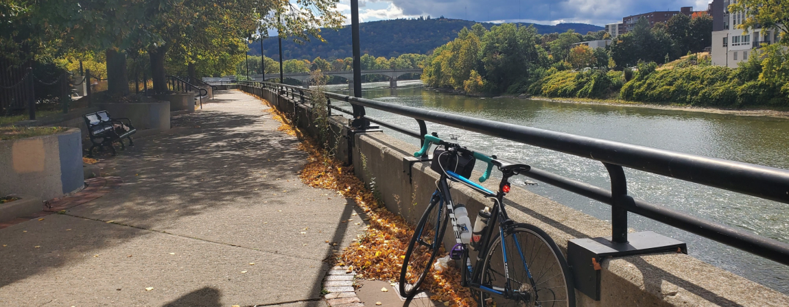 Parked Bicycle on the Binghamton Riverwalk